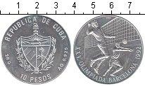 Изображение Монеты Куба 10 песо 1992 Серебро UNC-