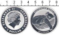 Изображение Монеты Австралия 1 доллар 2012 Серебро Proof Коала