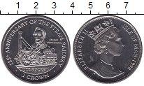 Монета Остров Мэн 1 крона Медно-никель 1998 UNC- фото