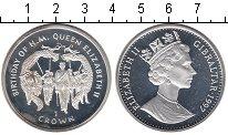 Изображение Монеты Гибралтар 1 крона 1997 Серебро Proof- Елизавета II. Рожден