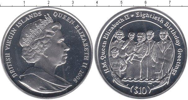 Картинка Монеты Виргинские острова 10 долларов Серебро 2006