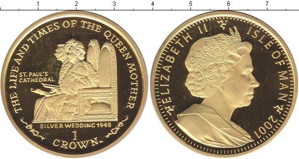Картинка Монеты Остров Мэн 1 крона Серебро 2001