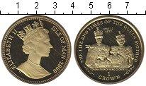 Изображение Монеты Остров Мэн 1 крона 2000 Серебро UNC- Коронация Короля Гео