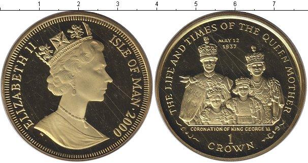 Картинка Монеты Остров Мэн 1 крона Серебро 2000