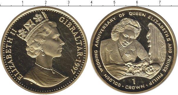 Картинка Монеты Гибралтар 1 крона Серебро 1997