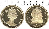 Изображение Монеты Гибралтар 1 крона 1999 Серебро UNC- Жизнь королевы-матер
