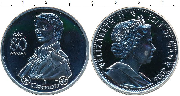 Картинка Монеты Остров Мэн 1 крона Серебро 2006