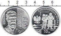 Изображение Монеты Польша 10 злотых 2008 Серебро Proof- Бронислав Пилсуцкий