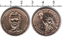 Изображение Мелочь США 1 доллар 2010 Медно-никель UNC- 16-й президент Abrah