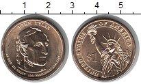 Изображение Мелочь США 1 доллар 2009 Медно-никель UNC- P. 10-й президент Дж