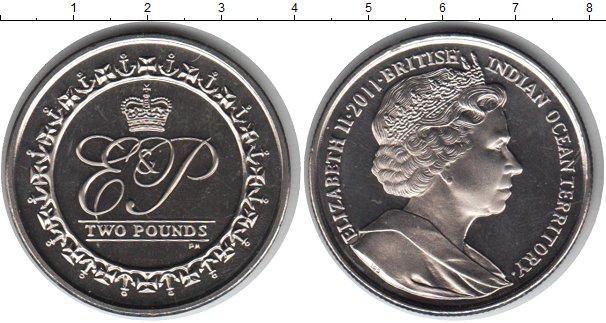 Картинка Мелочь Британско - Индийские океанские территории 2 фунта Медно-никель 2011