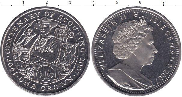 Картинка Монеты Остров Мэн 1 крона Медно-никель 2007