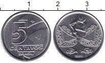 Изображение Мелочь Бразилия 5 сентаво 1989 Медно-никель XF