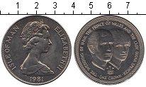 Изображение Мелочь Остров Мэн 1 крона 1981 Медно-никель UNC- Елизавета II