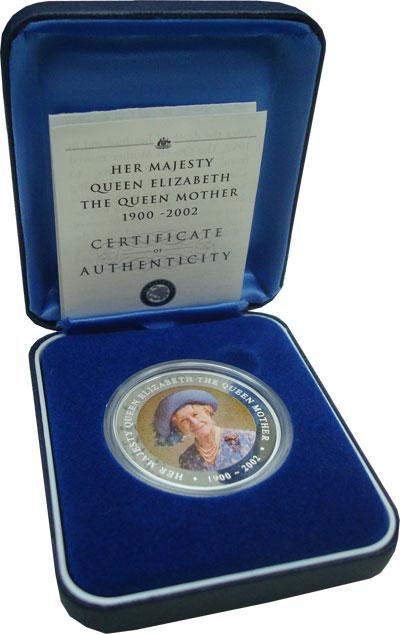 Изображение Монеты Острова Кука 1 доллар 2002 Серебро Proof Подарочная монета по