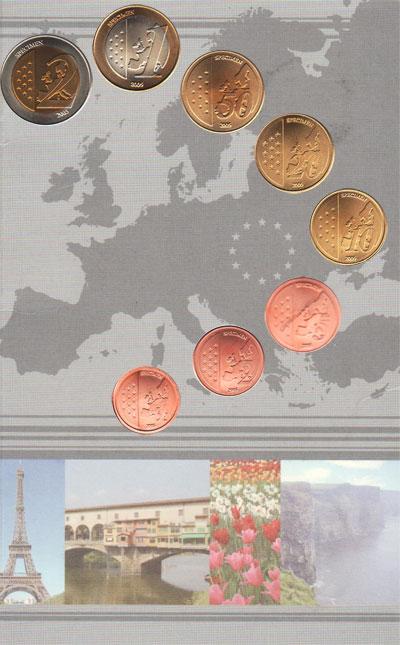 Изображение Подарочные наборы Ватикан Пробник евромонет 2005 года 2005  UNC