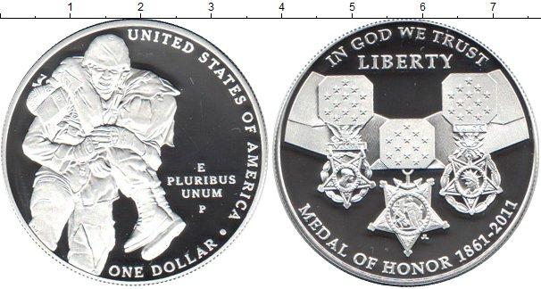 Картинка Подарочные наборы США 1 доллар Серебро 2011