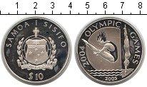 Изображение Монеты Самоа 10 тала 2003 Серебро Proof- Олимпиада-2004 в Афи