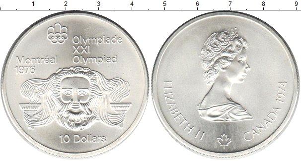 Картинка Монеты Канада 10 долларов Серебро 1976