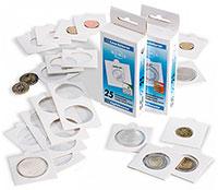 Изображение Аксессуары для монет Самоклеющиеся Холдеры самоклеющиеся 20 мм (Leuchtturm) 0   Диаметр окошка 20 мм