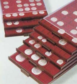 Картинка Аксессуары для монет Квадратные ячейки Leuchtturm (Германия) Планшет для монет на 20 ячеек (под холдеры) {310511}  0
