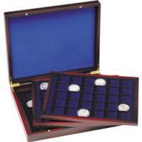 Изображение Аксессуары для монет Кейсы Деревянный кейс для монет HMK3T 30 BL (326786) 0   •Используется для п
