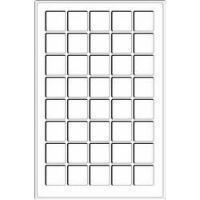Изображение Аксессуары для монет Другие Пластиковый планшет на 40 ячеек (302392) 0
