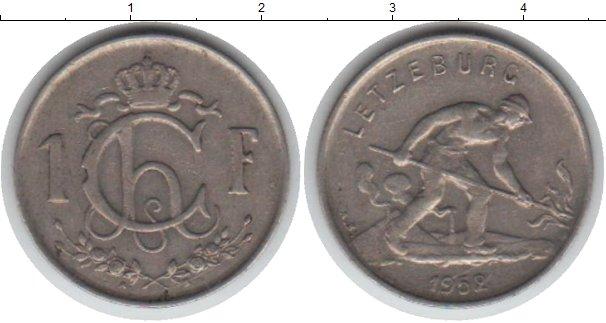 Картинка Мелочь Люксембург 1 франк Медно-никель 1952