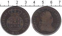Изображение Монеты Португалия 40 рейс 1821 Медь  Жуан VI
