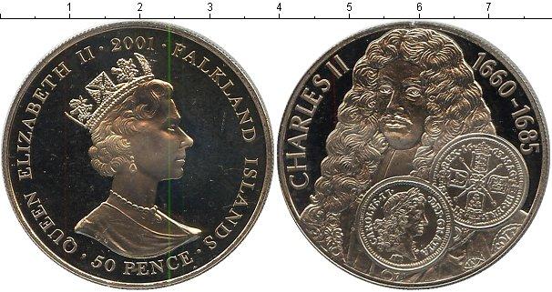 Картинка Мелочь Фолклендские острова 50 пенсов Медно-никель 2001