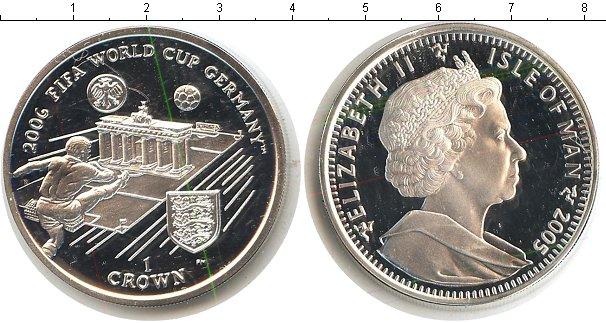 Картинка Монеты Остров Мэн 1 крона Серебро 2005