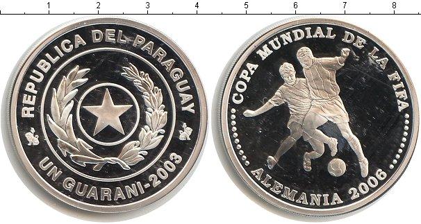Картинка Монеты Парагвай 1 гарани Серебро 2003