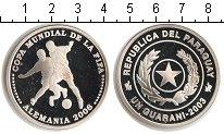 Изображение Монеты Парагвай 1 гарани 2003 Серебро Proof- FIFA 2006