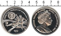 Изображение Монеты Виргинские острова 10 долларов 2004 Серебро Proof- Елизавета II FIFA 20