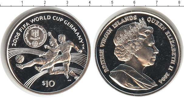 Картинка Монеты Виргинские острова 10 долларов Серебро 2004