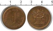 Изображение Мелочь Родезия 1 цент 1977 Медь XF Елизавета II