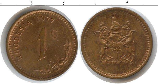 Картинка Мелочь Родезия 1 цент Медь 1977