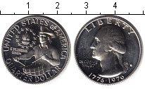 Изображение Мелочь США 25 центов 1976 Серебро Proof 200 лет независимост