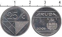 Изображение Мелочь Аруба 25 центов 2009 Железо