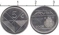 Изображение Мелочь Аруба 5 центов 2004 Железо XF