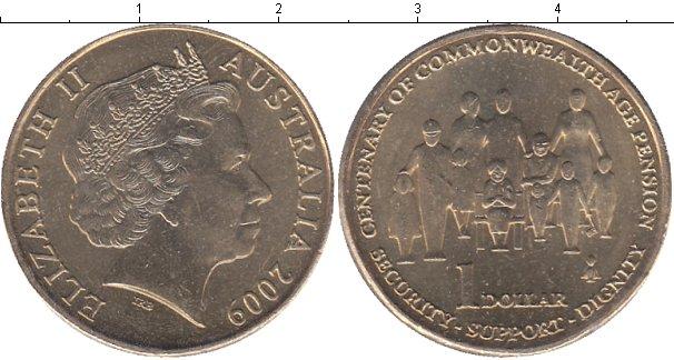 Картинка Мелочь Австралия 1 доллар Медно-никель 2009