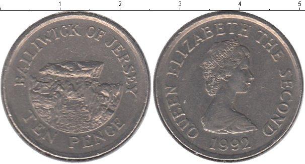 Картинка Мелочь Остров Джерси 10 пенсов Медно-никель 1992