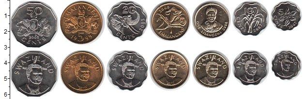 Изображение Наборы монет Свазиленд Свазиленд 1999-2010 0 Медно-никель UNC- В наборе 7 монет ном