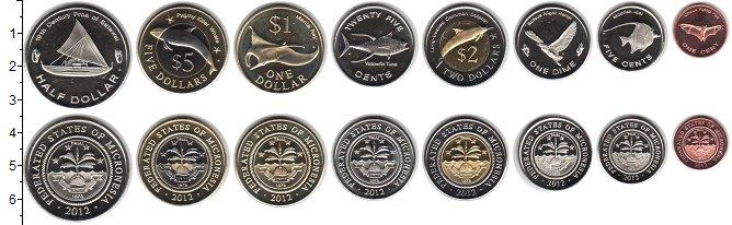Изображение Наборы монет Микронезия Микронезия 2012 2012  UNC- В наборе 8 монет ном