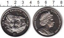 Изображение Мелочь Виргинские острова 1 доллар 2002 Медно-никель UNC Уолтер Рэлли