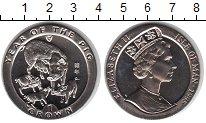 Изображение Мелочь Остров Мэн 1 крона 1995 Медно-никель UNC- Год Свиньи