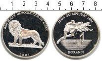 Изображение Монеты Конго 10 франков 2003 Серебро Proof- Олимпиада 2004г
