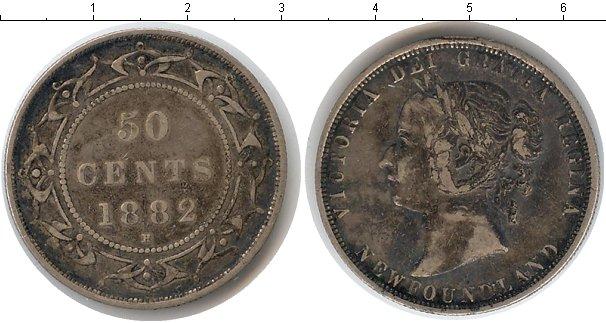 Картинка Монеты Ньюфаундленд 50 центов Серебро 1882