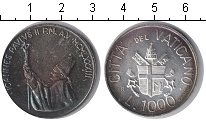 Изображение Монеты Ватикан 1000 лир 1983 Серебро UNC Молитва
