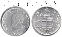Изображение Монеты Ватикан 1000 лир 1984 Серебро UNC Год мира